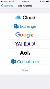 Email apps for messaging on androids or iOS