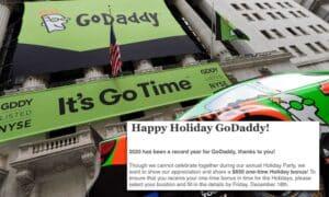 Phishing test of GoDaddy teased employees with the bonus of fake holidays