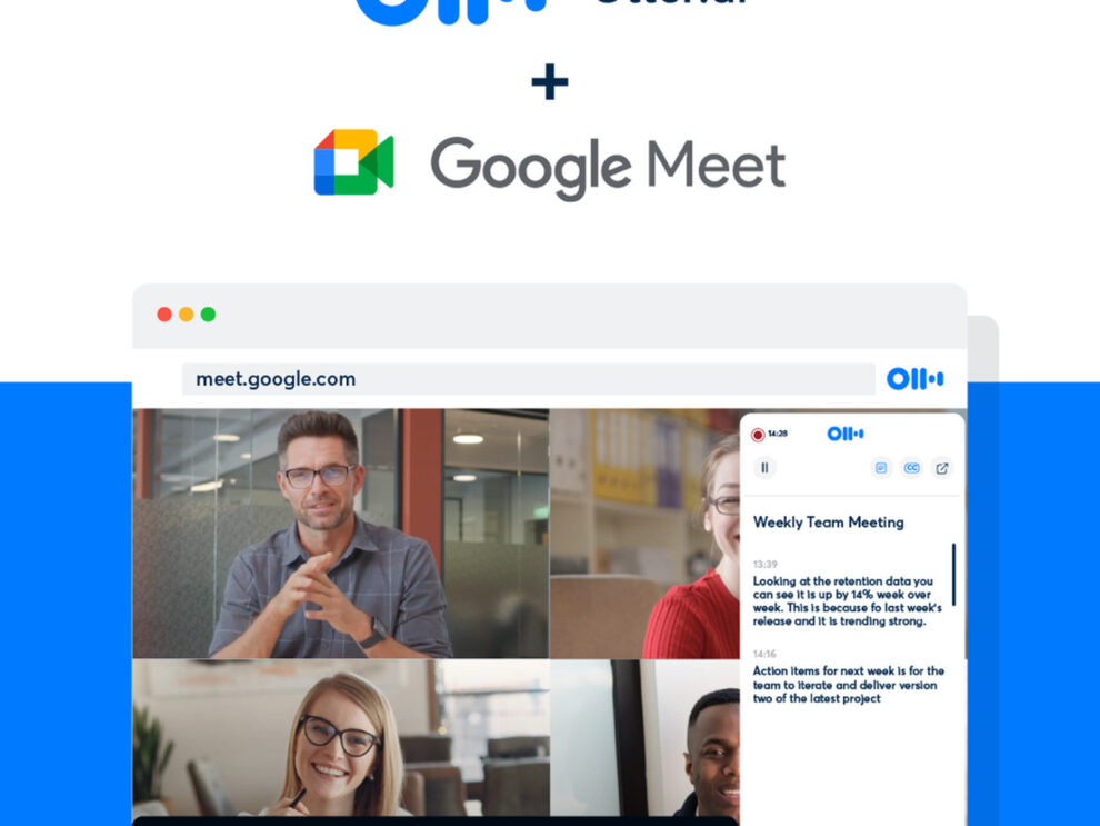 Live transcription is launched for Google Meet by Otter