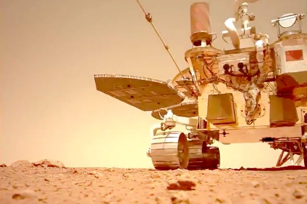 Mars Rover video and audio has been shared by China